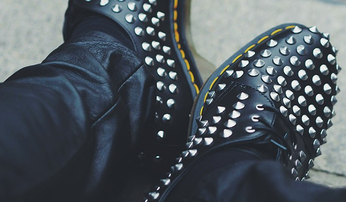 Dr. Martens studded derby shoes