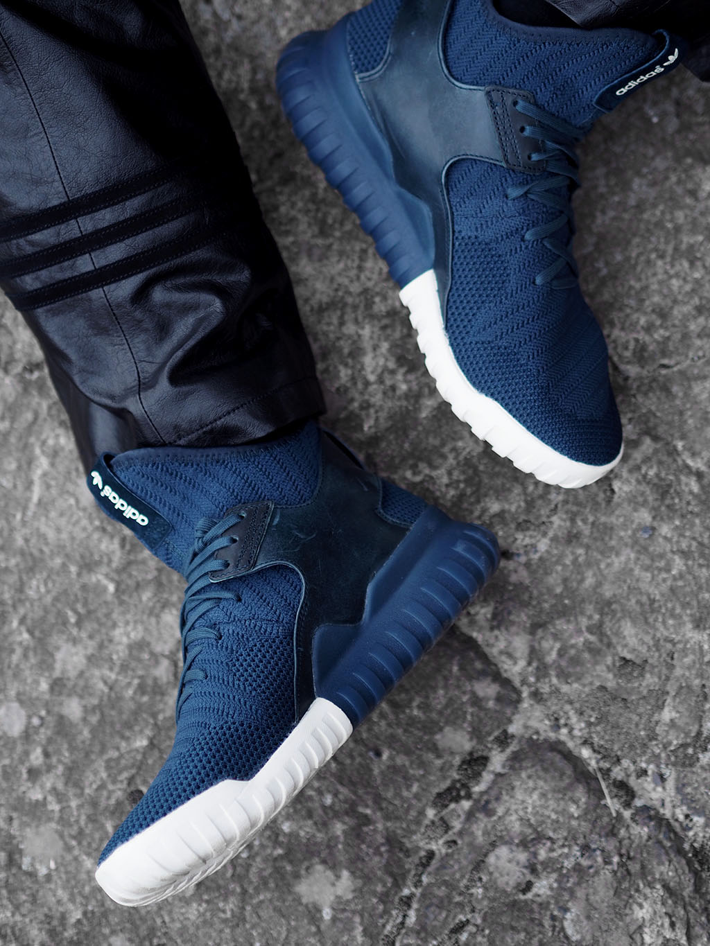 Cool Granite Colors The adidas Tubular X Primeknit