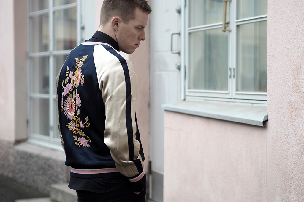 H&M embroidered bomber