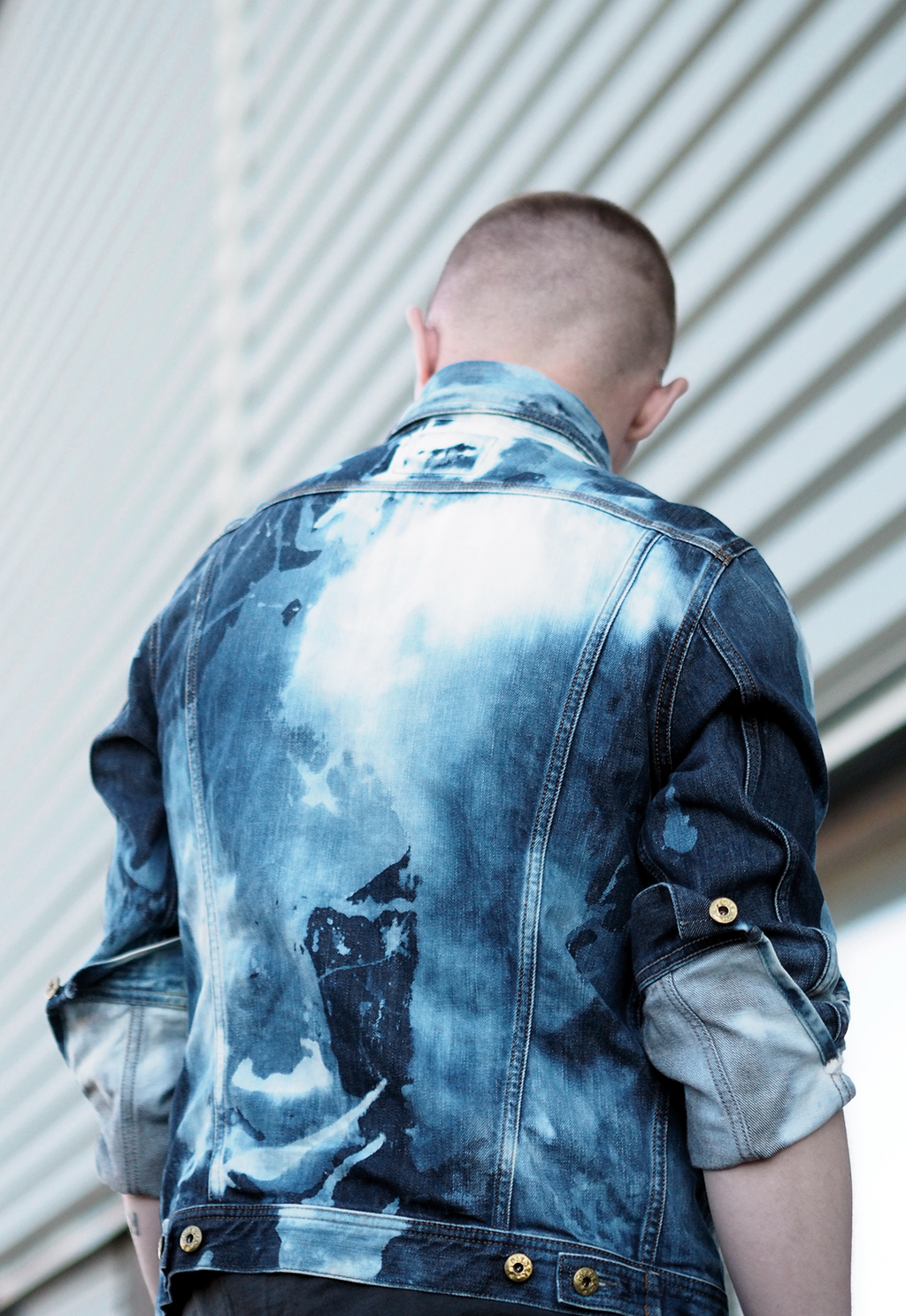 Bleached denim